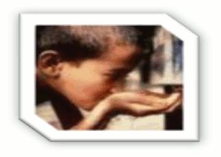 Bebendo a água contaminada