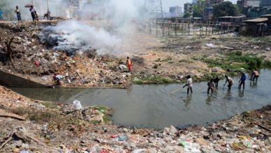 água contaminada