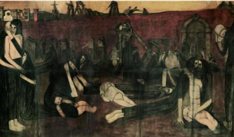 Pintura Plague in Lucca