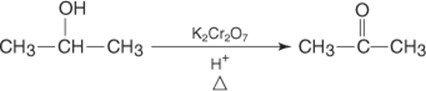 Síntese acetona oxidação dicromato