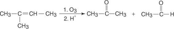 Síntese da acetona por ozonolização