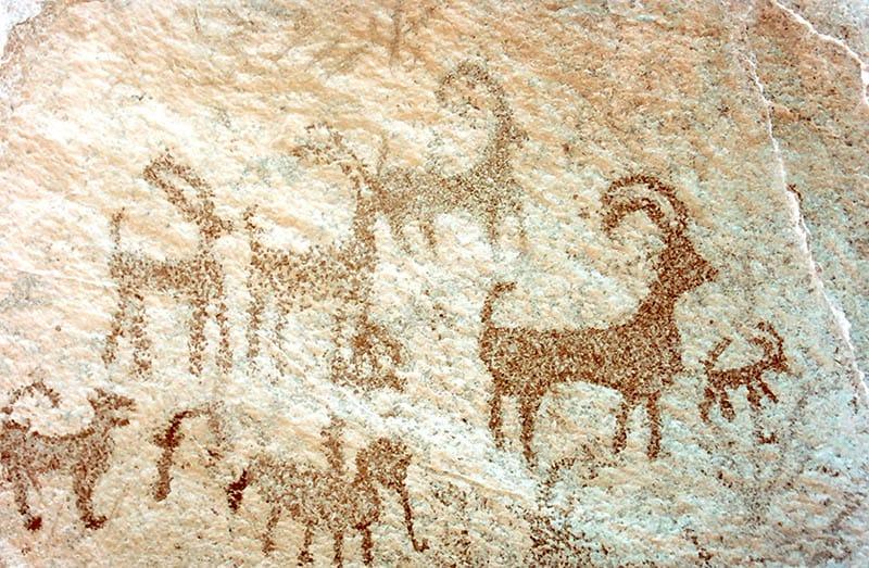 Pintura rubestre caverna Arash Sharifi