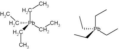 Estrutura química tetraetilchumbo