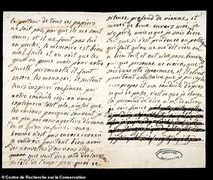 Carta Maria Antonieta